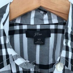 J. Crew Tops - NEW J. Crew white black plaid long sleeve shirt XS